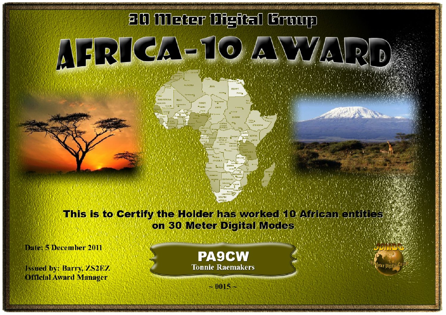 Pa9Cw-30Mdg-Africa-10-Certificate