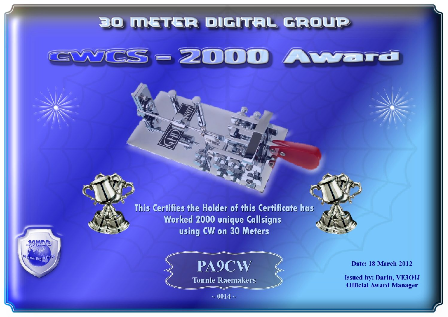 Pa9Cw-30Mdg-Cwcs-2000-Certificate
