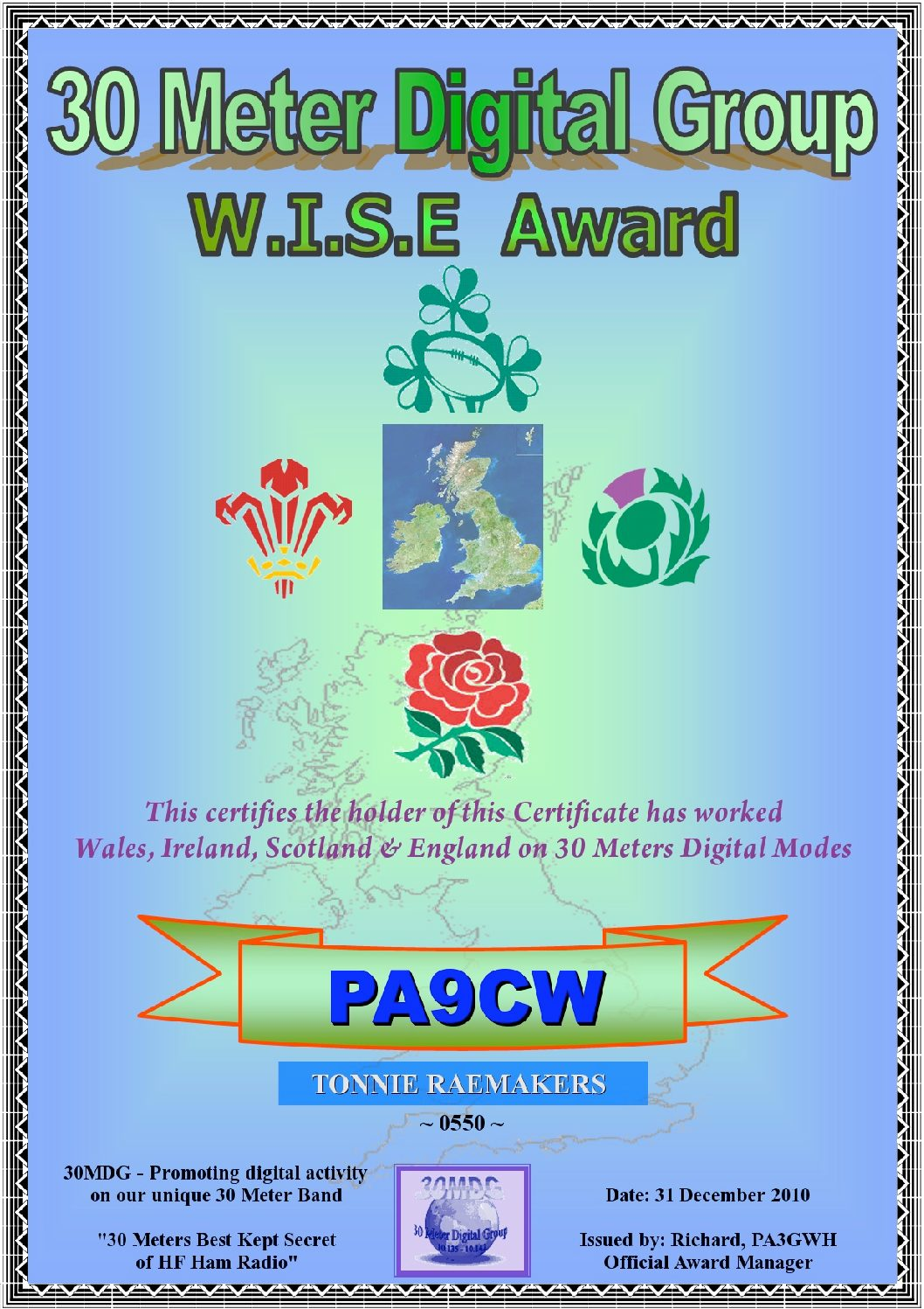 Pa9Cw-30Mdg-Wise-Certificate